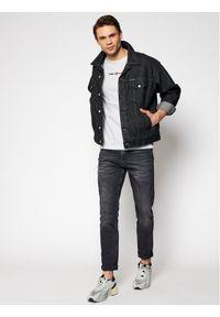 Tommy Jeans T-Shirt Linear Logo Tee DM0DM10219 Szary Regular Fit. Kolor: szary