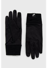Asics - Rękawiczki. Kolor: czarny. Materiał: dzianina