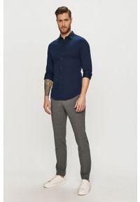 Niebieska koszula Scotch & Soda długa, gładkie