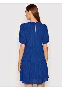 DKNY Sukienka codzienna DD1EM711 Niebieski Regular Fit. Okazja: na co dzień. Kolor: niebieski. Typ sukienki: proste. Styl: casual