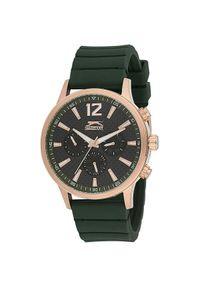 Zielony zegarek Slazenger sportowy