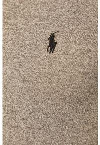 Polo Ralph Lauren - Longsleeve. Typ kołnierza: polo. Kolor: szary. Materiał: dzianina. Długość rękawa: długi rękaw. Długość: krótkie