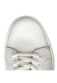 Białe półbuty Calvin Klein na co dzień, z cholewką, casualowe
