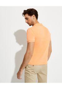 Ralph Lauren - RALPH LAUREN - Pomarańczowa koszulka polo Spa Terry. Okazja: na co dzień. Typ kołnierza: polo. Kolor: pomarańczowy. Materiał: bawełna, prążkowany. Wzór: haft. Styl: casual