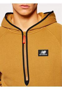 New Balance Bluza Athletics Terrain NBMT03531 Brązowy Relaxed Fit. Kolor: brązowy