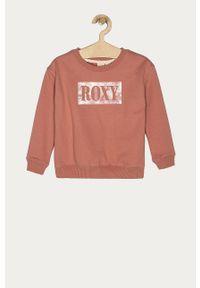 Różowa bluza Roxy casualowa, bez kaptura, na co dzień