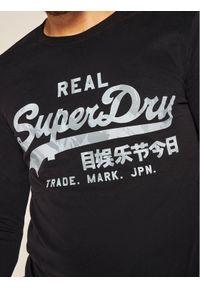 Czarna koszulka z długim rękawem Superdry