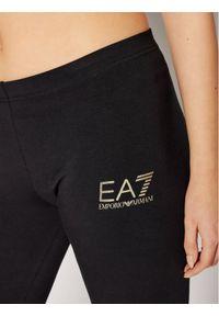 EA7 Emporio Armani Legginsy 3KTP86 TJ4SZ 1200 Czarny Slim Fit. Kolor: czarny