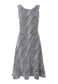 Czarna sukienka TOP SECRET na imprezę, elegancka, z dekoltem na plecach