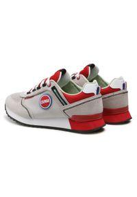 Colmar - Sneakersy COLMAR - Travis Sport Colors 038 Lt Gray/Red. Okazja: na co dzień. Kolor: szary. Materiał: skóra, materiał, zamsz. Szerokość cholewki: normalna. Styl: sportowy #7