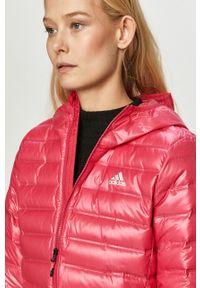 Różowa kurtka adidas Performance casualowa, na co dzień, z kapturem