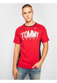 Czerwony t-shirt Tommy Sport sportowy