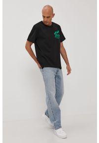 Czarna bluzka The Classy Issue na co dzień, z nadrukiem, casualowa