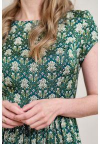 Marie Zélie - Sukienka Antea Rosone. Materiał: wiskoza, materiał. Długość rękawa: krótki rękaw. Typ sukienki: asymetryczne