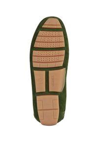 Geox - Mokasyny skórzane. Nosek buta: okrągły. Kolor: zielony. Materiał: skóra #6
