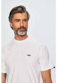 Vans - T-shirt. Okazja: na co dzień. Kolor: biały. Materiał: dzianina. Styl: casual