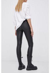 only - Only - Spodnie. Kolor: czarny. Materiał: materiał