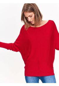Czerwony sweter TOP SECRET na co dzień, długi