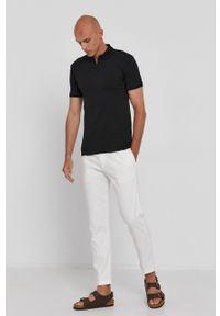 Polo Ralph Lauren - Polo. Typ kołnierza: polo. Kolor: czarny. Materiał: dzianina. Wzór: gładki