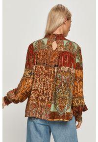 Wielokolorowa bluzka Desigual długa, na co dzień, z długim rękawem, ze stójką
