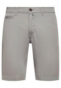 Pierre Cardin Szorty materiałowe 3465/000/2080 Szary Tailored Fit. Kolor: szary. Materiał: materiał