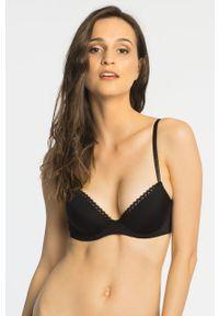 Czarny biustonosz Calvin Klein Underwear z fiszbinami
