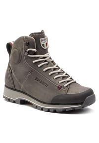 Szare buty trekkingowe Dolomite z cholewką, Gore-Tex, trekkingowe