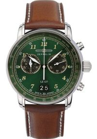 Zielony zegarek Zeppelin