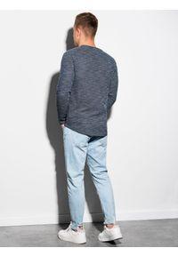 Niebieska bluza Ombre Clothing klasyczna, bez kaptura