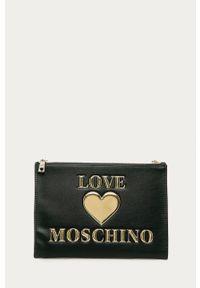 Czarna kopertówka Love Moschino z aplikacjami, z aplikacjami