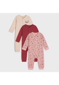 Sinsay - Pajacyki 3 pack - Różowy. Kolor: różowy