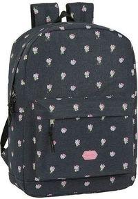 Szary plecak na laptopa Hello Kitty z motywem z bajki