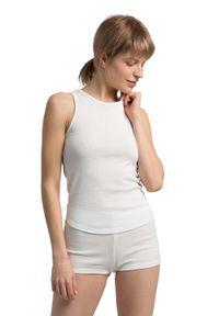 MOE - Bawełniana Koszulka Typu Top - Biała. Kolor: biały. Materiał: bawełna