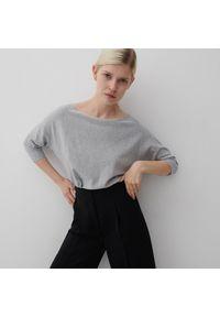 Reserved - Gładki sweter - Szary. Kolor: szary. Wzór: gładki