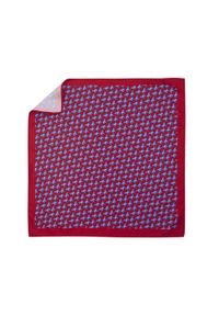 Adam Collection - Czerwona poszetka w słonie E223. Kolor: czerwony