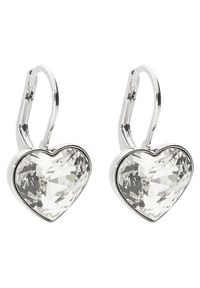 Swarovski Kolczyki Bella Heart 5515191 Srebrny. Materiał: srebrne. Kolor: srebrny