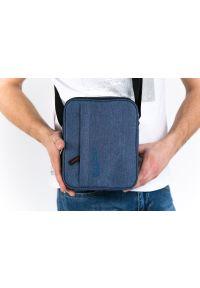 Niebieska nerka Pako Jeans z napisami