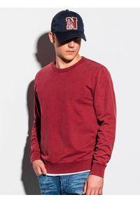 Czerwona bluza Ombre Clothing klasyczna, bez kaptura
