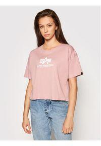 Różowy t-shirt Alpha Industries