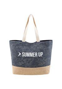 Niebieska torba plażowa outhorn na wiosnę, melanż