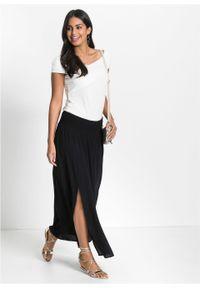 Długa spódnica z rozporkami bonprix czarny. Kolor: czarny. Długość: długie #2