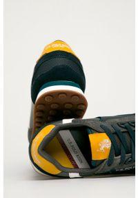 Szare sneakersy U.S. Polo Assn na sznurówki, z cholewką