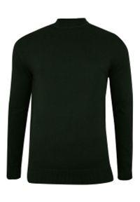 Zielony sweter Brave Soul na zimę, klasyczny