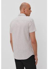 Szara koszula Jack & Jones casualowa, na co dzień, gładkie, z krótkim rękawem