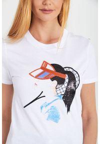 T-shirt Sportmax Code casualowy, w kolorowe wzory