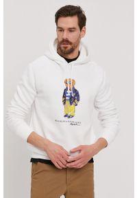Polo Ralph Lauren - Bluza. Typ kołnierza: polo. Kolor: biały. Wzór: nadruk