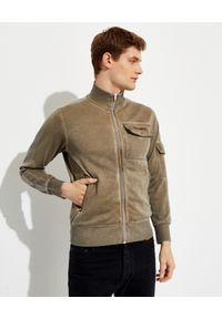 PALM ANGELS - Rozpinana bluza dresowa. Kolor: brązowy. Materiał: dresówka. Długość rękawa: długi rękaw. Długość: długie. Wzór: aplikacja