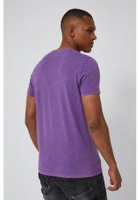 medicine - Medicine - T-shirt Basic. Kolor: fioletowy. Materiał: dzianina. Wzór: gładki