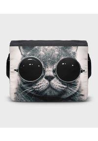 MegaKoszulki - Torba na ramię duża Lennon Cat. Wzór: paski, nadruk