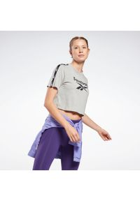 Reebok - Koszulka crop top fitness damska. Materiał: poliester, bawełna. Sport: fitness